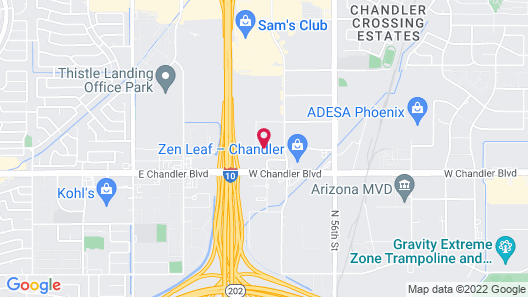 Homewood Suites Phoenix Chandler Map