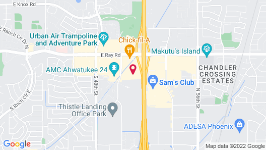 Extended Stay America Suites Phoenix Chandler Map