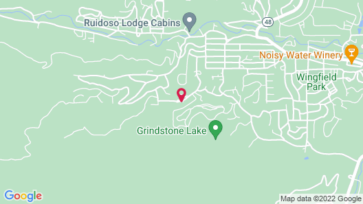 Bear Butte Lodge - Three Bedroom Cabin with Hot Tub Map