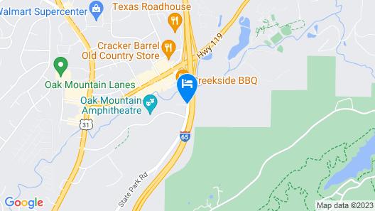 Best Western Plus Oak Mountain Inn Map