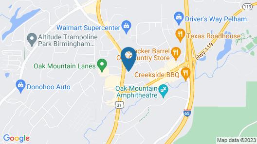 Comfort Suites Pelham Hoover I-65 Map