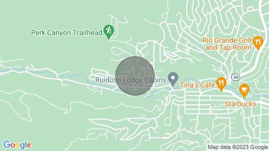 Knotty Pine: A Cute Ruidoso Classic with a Private Hot Tub! Map