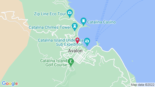 The Avalon Hotel on Catalina Island Map