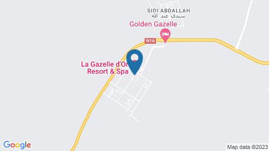 La Gazelle d'Or Resort & Spa Map