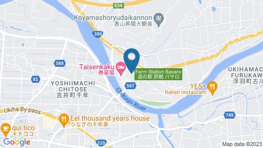 Harazuru Onsen Hotel Topmega Itoen Map