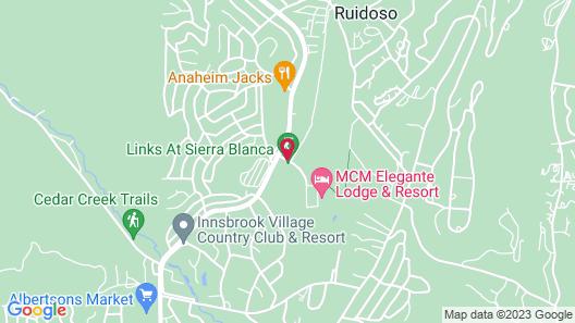 MCM Elegante Lodge & Suites Ruidoso Map