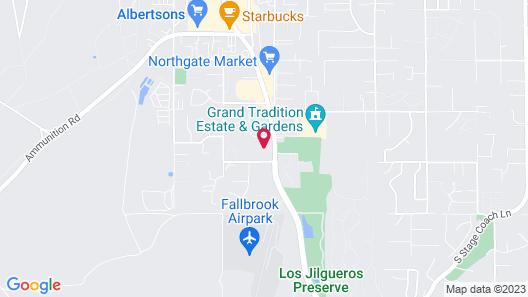 Rodeway Inn Fallbrook Downtown Map