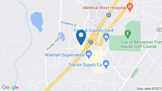 Comfort Inn Bessemer Birmingham South Map