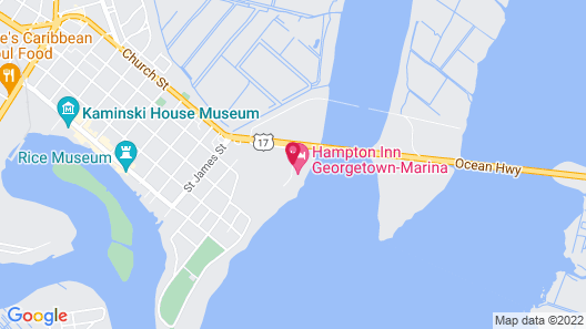 Hampton Inn Georgetown - Marina Map