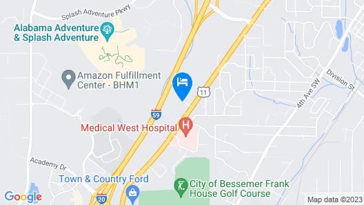 Motel 6 Bessemer, AL - Birmingham Map