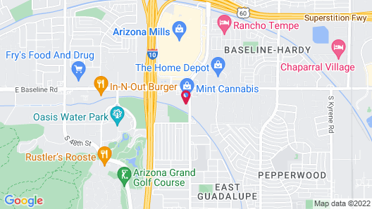 Tempe by the Mall Phoenix Airport Hotel Map