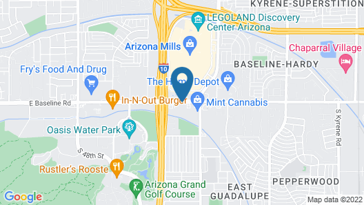 Hotel Tempe/Phoenix Airport InnSuites at the Mall Map