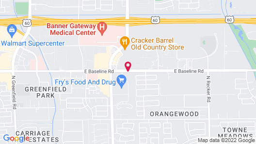 Staybridge Suites Phoenix East - Gilbert Map