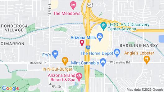 Studio 6 Tempe, AZ Map