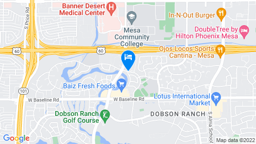 Extended Stay America - Phoenix - Mesa - West Map