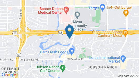 Dobson Ranch Inn and Suites, Mesa Map