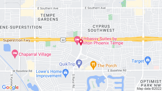 Embassy Suites Hotel Phoenix-Tempe Map