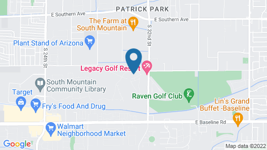 Legacy Golf Resort Map