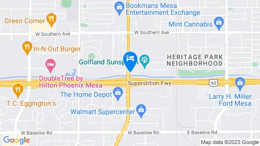 Motel 6 Mesa, AZ - South Map
