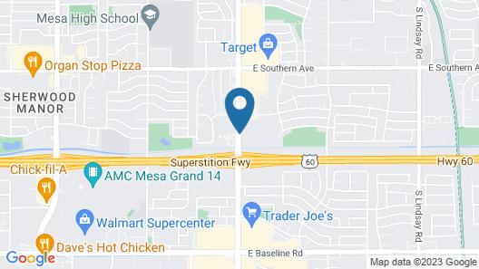 Best Western Plus Mesa Map