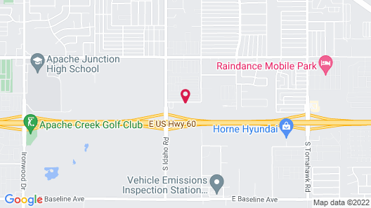 Motel 6 Apache Junction, AZ Map