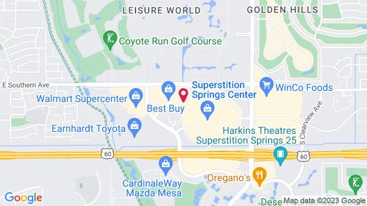 Sleep Inn Mesa - Superstition Springs Center Map