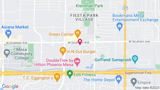 Courtyard by Marriott Phoenix Mesa Map