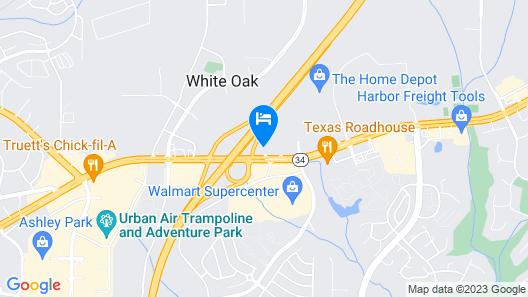 Hampton Inn Atlanta - Newnan Map