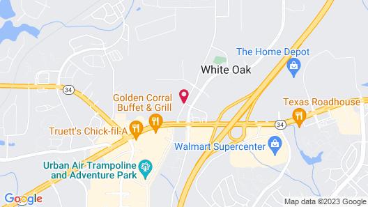 Motel 6 Newnan, GA Map