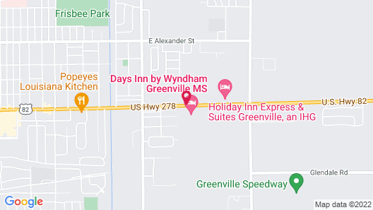 Days Inn by Wyndham Greenville MS Map