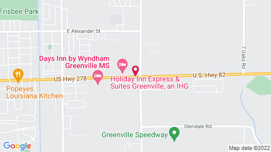 Holiday Inn Express and Suites Greenville Map