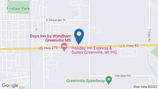 Holiday Inn Express and Suites Greenville, an IHG Hotel Map