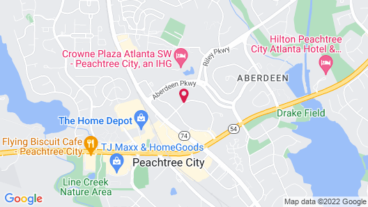 Hampton Inn Atlanta/Peachtree City Map