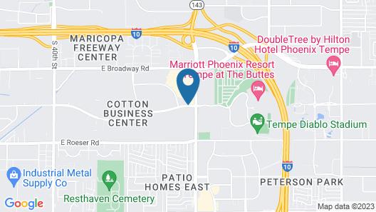 Homewood Suites by Hilton Phoenix Airport South Map