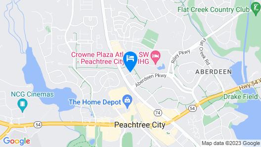 Hilton Garden Inn Atlanta/Peachtree City Map