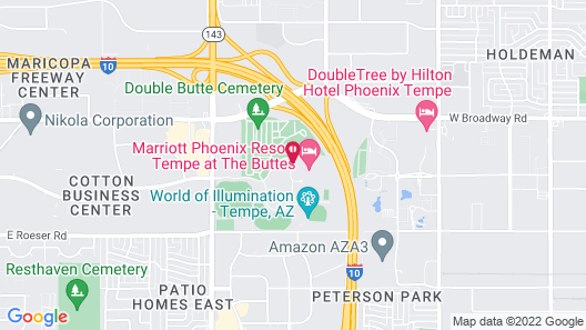 Marriott Phoenix Resort Tempe at The Buttes Map