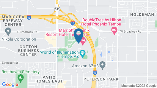 Marriott Phoenix Resort Tempe at The Buttes Map