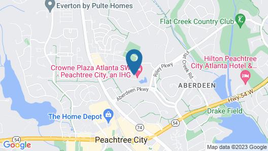 Crowne Plaza Atlanta SW - Peachtree City, an IHG Hotel Map