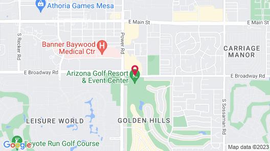 Arizona Golf Resort - Phoenix, Mesa Map