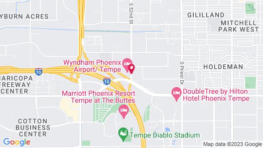 Comfort Suites Phoenix Airport Map