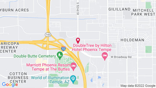 Sheraton Phoenix Airport Hotel Tempe Map