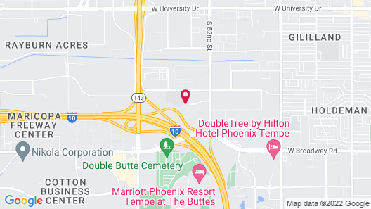 Extended Stay America Suites Phoenix Airport Tempe Map