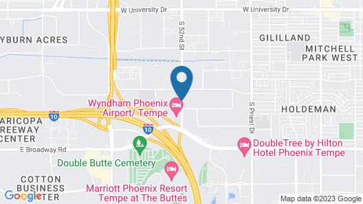 Hampton Inn & Suites Tempe/Phoenix Airport Map