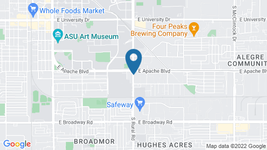 MOXY Phoenix Tempe/ASU Area Map