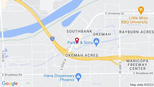 Hilton Garden Inn Phoenix Airport Map