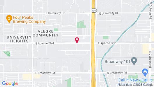 Rodeway Inn Near AZ State University Map