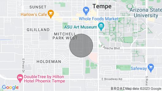 Cozy Apartment Near ASU Parking Pet Friendly! Map