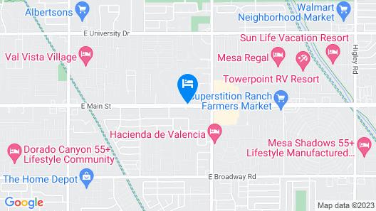 Travelodge Suites by Wyndham Phoenix Mesa Map