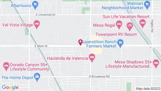 Superior Suites Phoenix Mesa Map