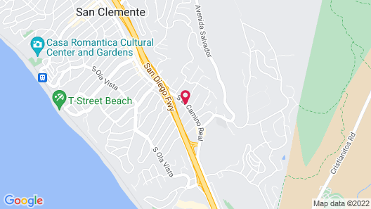Americas Best Value Inn San Clemente Beach Map